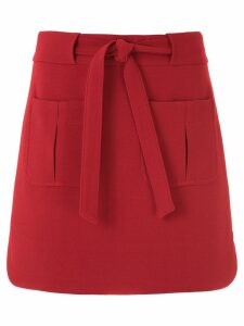 Egrey short skirt - Red