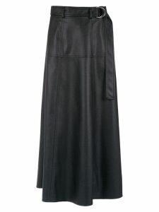 Gloria Coelho belted midi skirt - Black