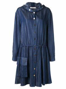 Tibi draped mid-length dress - Blue