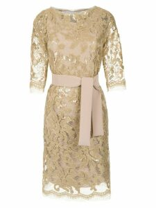 Gloria Coelho sequin lace dress - Metallic