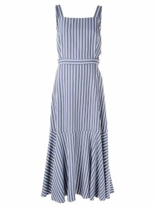 Tibi Viscose twill strappy dress - Blue