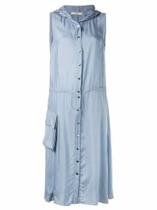 Tibi Cupro anorak sleeveless midi dress - Blue