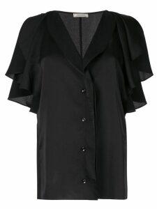 Nina Ricci ruffled sleeve blouse - Black