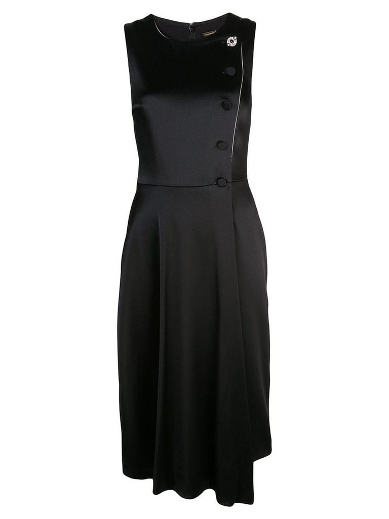 Adam Lippes asymmetric sleeveless dress - Black