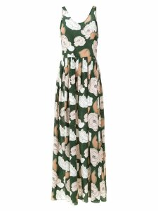 Adriana Degreas silk printed dress - Green