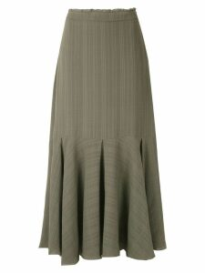 Magrella midi pleated skirt - Green