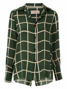 Adriana Degreas checkered shirt - Green