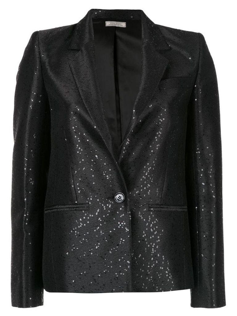 Nina Ricci sequined blazer - Black