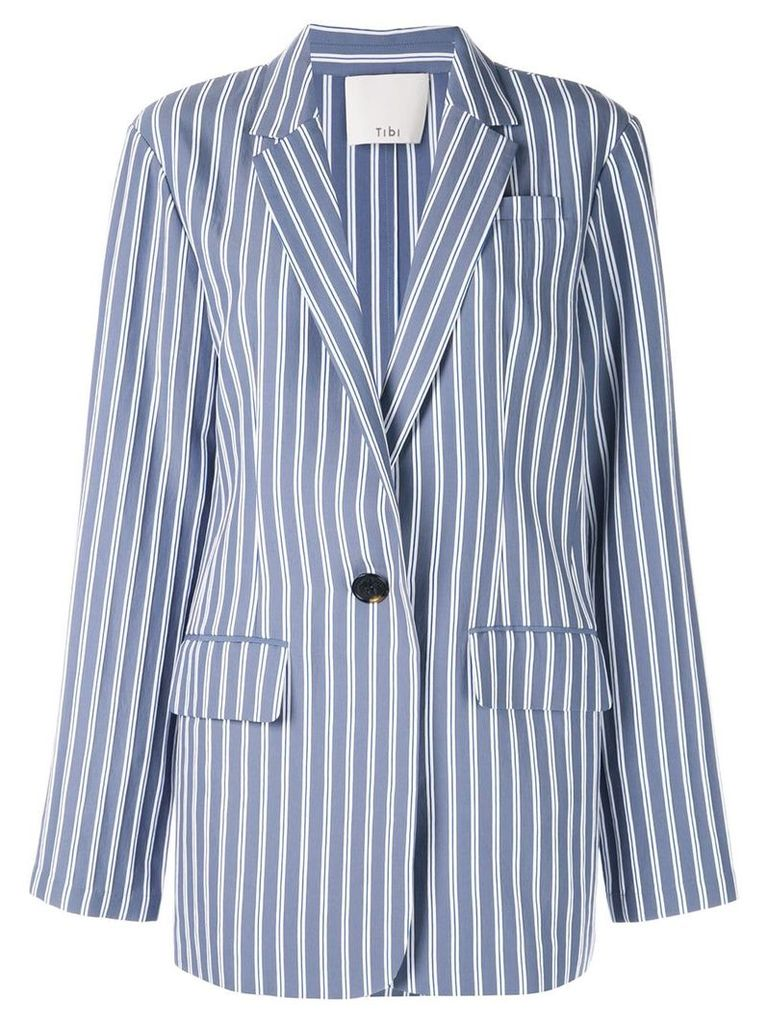 Tibi Viscose twill oversized blazer - Blue