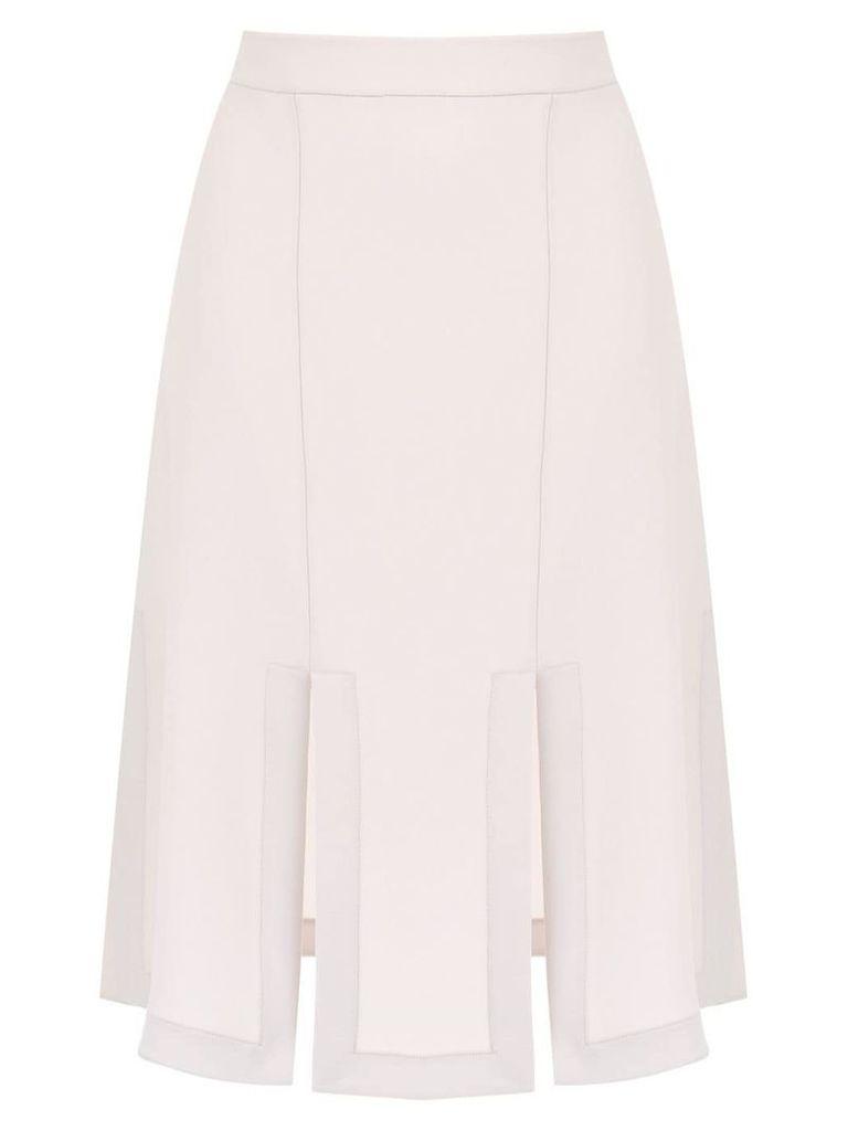 Gloria Coelho midi skirt with front slits - White