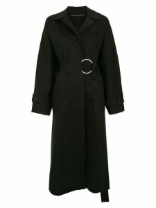 Gloria Coelho belted oversized coat - Black