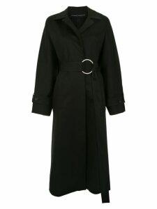Gloria Coelho belted oversized coat - Black