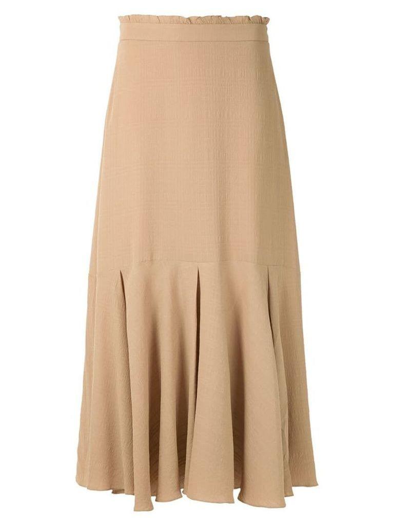 Magrella pleated midi skirt - Neutrals