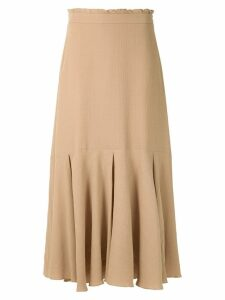 Magrella pleated midi skirt - Neutrals