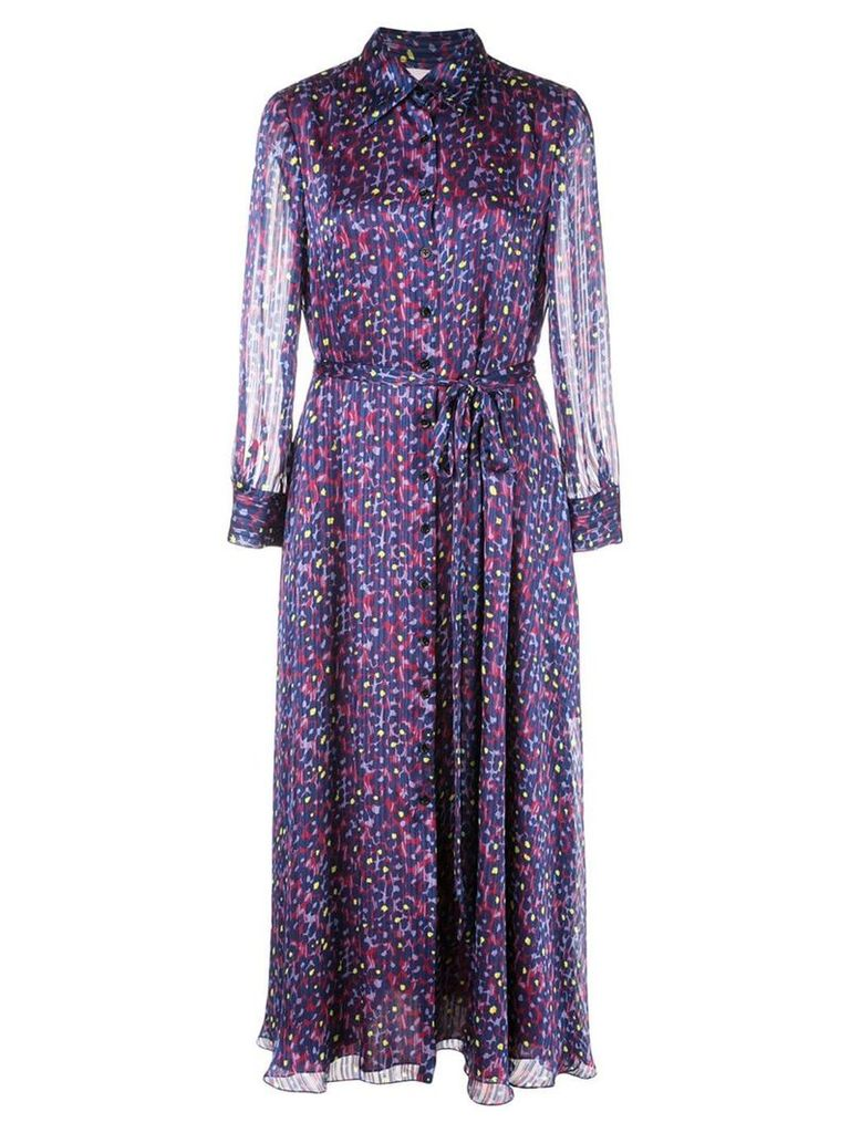 Carolina Herrera floral print shirt dress - Purple