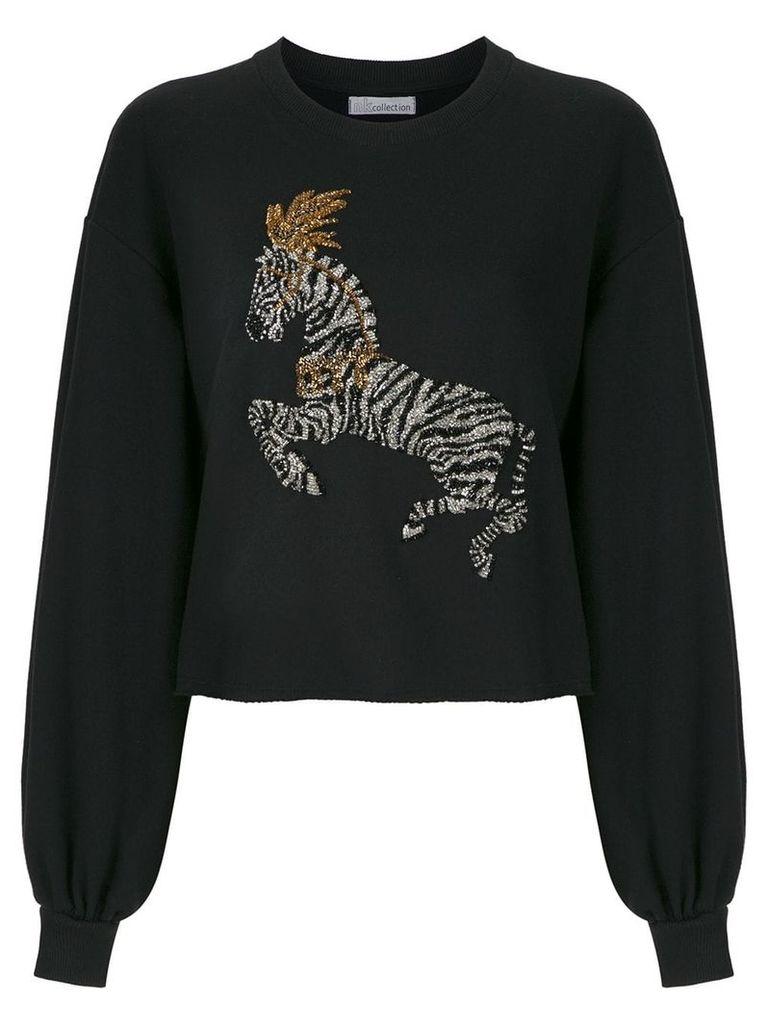 Nk embroidered sweatshirt - Black