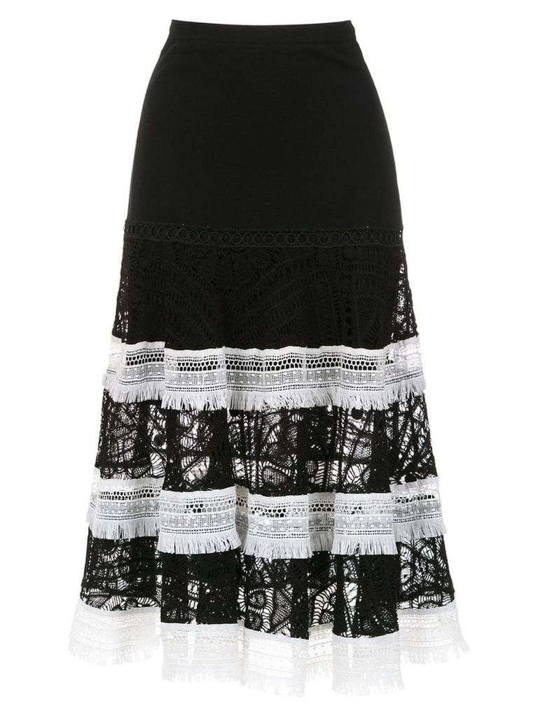 Martha Medeiros knitted midi skirt - Black