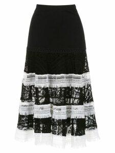 Martha Medeiros knitted midi skirt - Black