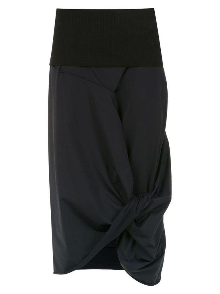 Mara Mac panelled midi skirt - Black