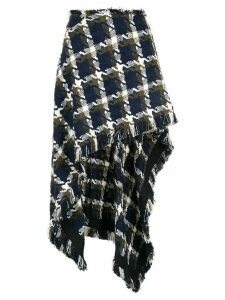 Monse checkered asymmetric skirt - Multicolour