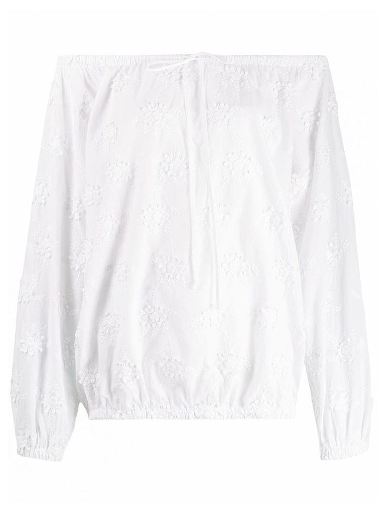 Love Moschino off-shoulder floral blouse - White