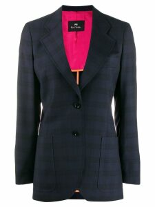 PS Paul Smith checked wool blazer - Blue