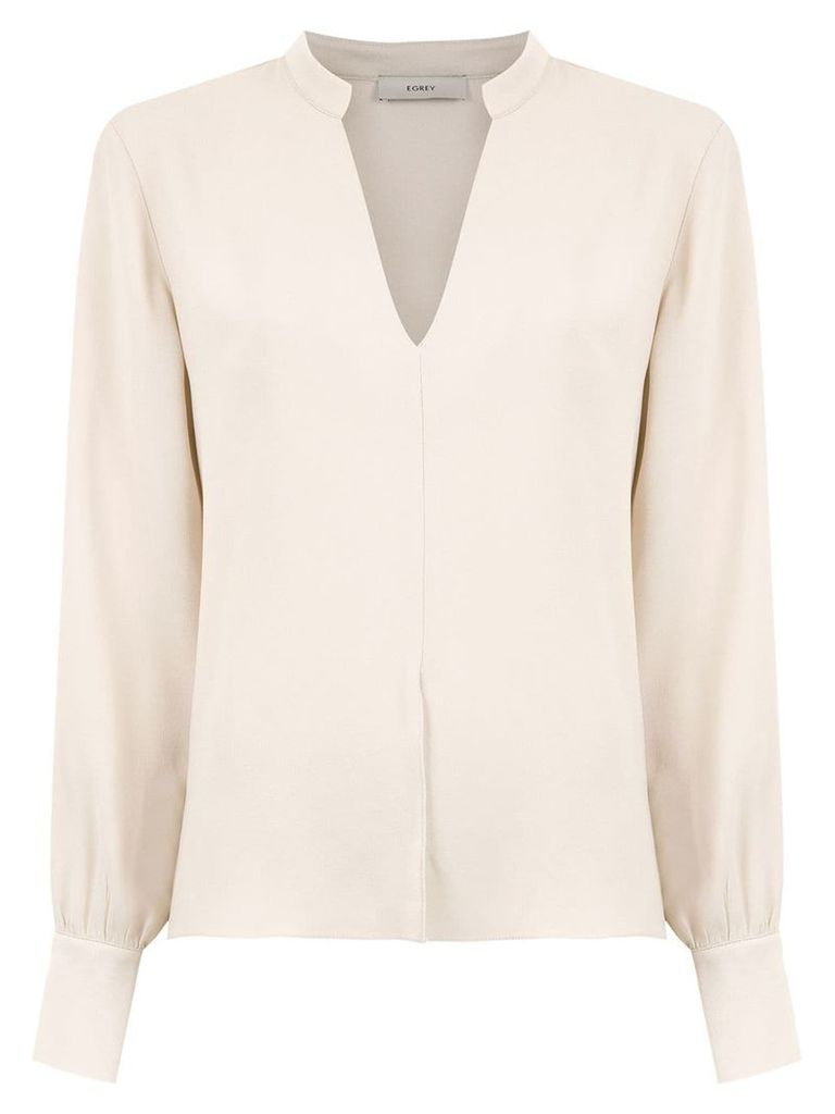 Egrey V neck blouse - Neutrals