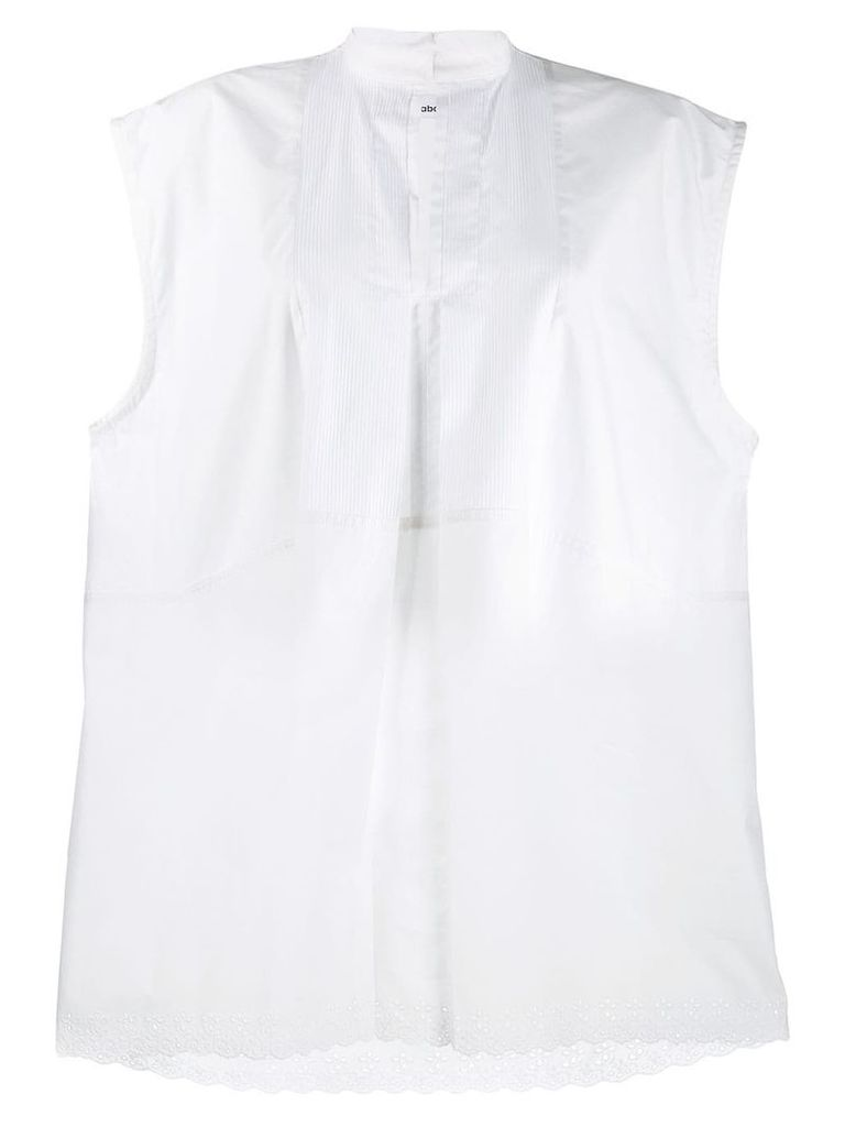 Paco Rabanne sleeveless tunic style blouse - White