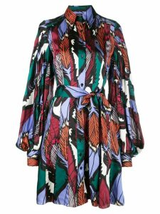 Carolina Herrera feather printed shirt dress - Multicolour