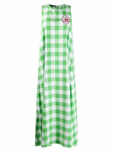 Love Moschino check print shift dress - Green