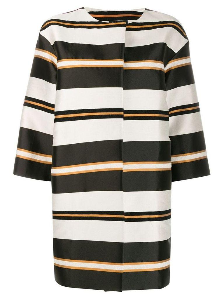 Antonelli Genova striped coat - Black