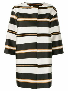 Antonelli Genova striped coat - Black