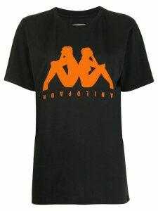 Paura x Kappa logo print T-shirt - Black