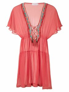 Brigitte silk tunic dress - Red