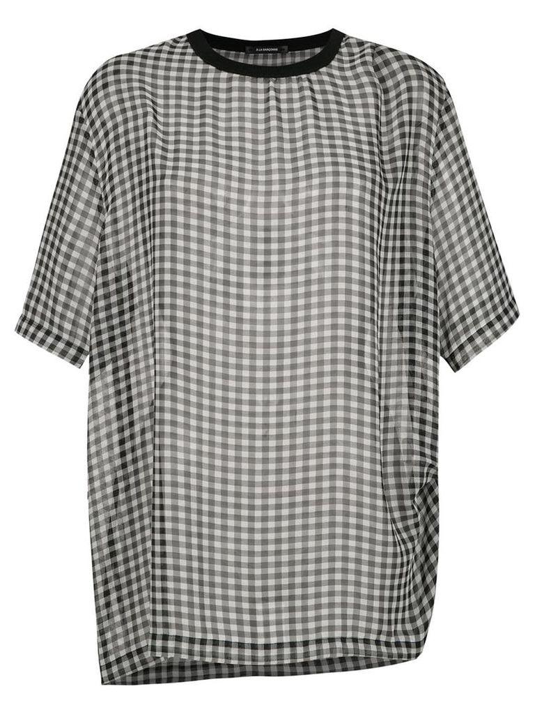 À La Garçonne shiffon oversized t-shirt - Grey