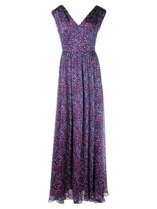 Carolina Herrera floral print gown - Purple