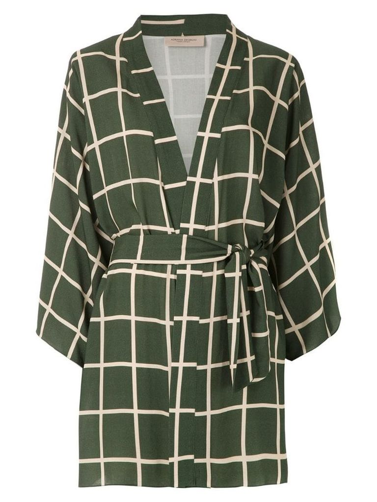 Adriana Degreas short shirt dress - Green