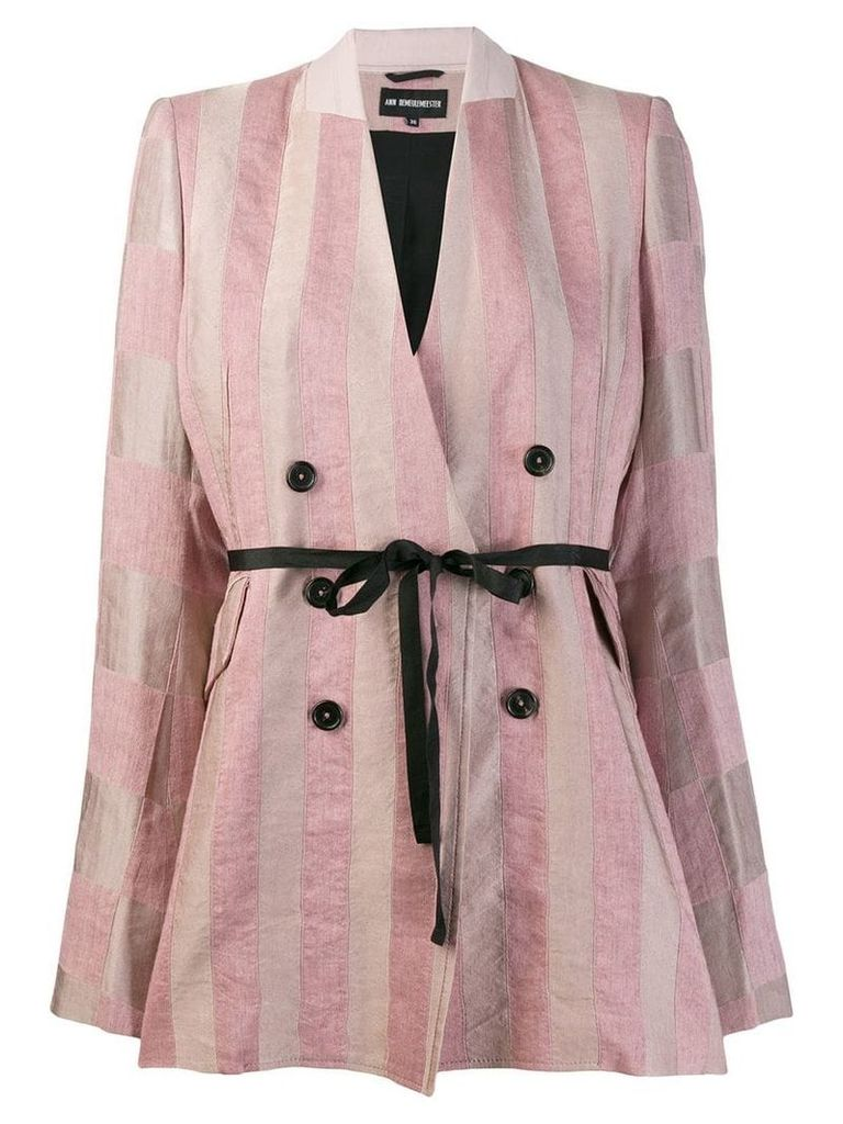 Ann Demeulemeester striped Lightlaine blazer - Pink