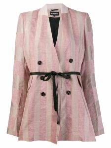 Ann Demeulemeester striped Lightlaine blazer - Pink