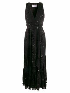 Sundress embellished long dress - Black