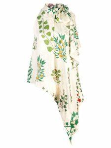 Oscar de la Renta floral bow tie blouse - White