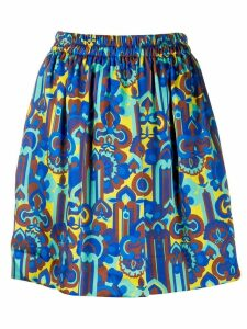 La Doublej all-over print pouf skirt - Blue
