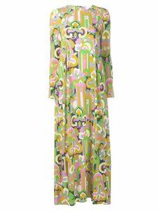La Doublej longsleeved printed maxi dress - Green