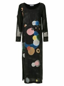 Mara Mac overlay midi dress - Black