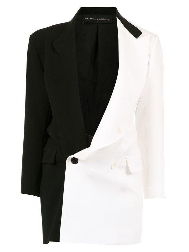 Gloria Coelho two-tone oversized blazer - Black