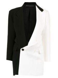 Gloria Coelho two-tone oversized blazer - Black