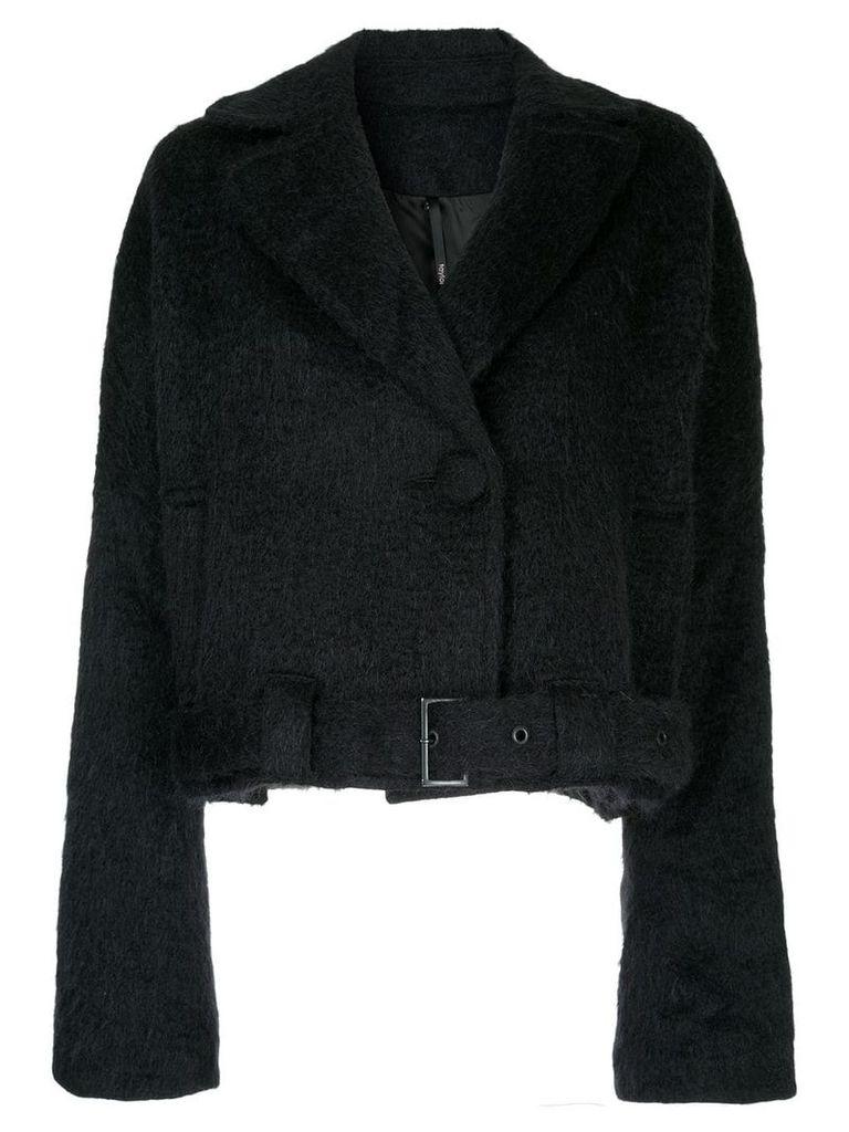 Taylor Belted Covet coat - Black