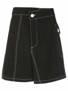 Proenza Schouler PSWL Asymmetrical Utility Cotton Pocket Skirt - Black