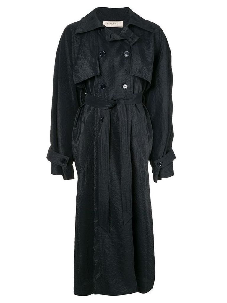 Nina Ricci long reversible trench coat - Blue