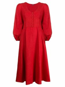 Staud Birdie V-neck dress - Red